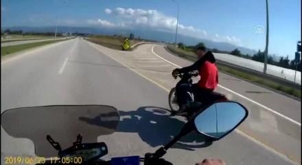 Çaldığı motosikletle yakalandı