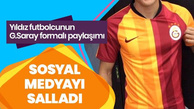 Yıldız futbolcunun Galatasaray formalı paylaşımı sosyal medyayı salladı