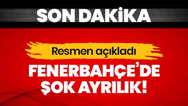 Fenerbahçe'de flaş ayrılık! 'Kişisel sebeplerden dolayı görevimi bırakıyorum'