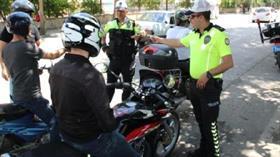 Emniyetten turizm bölgelerinde motosiklet- kask denetimi