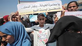 Gazze'de Bahreyn Çalıştayı protesto edildi