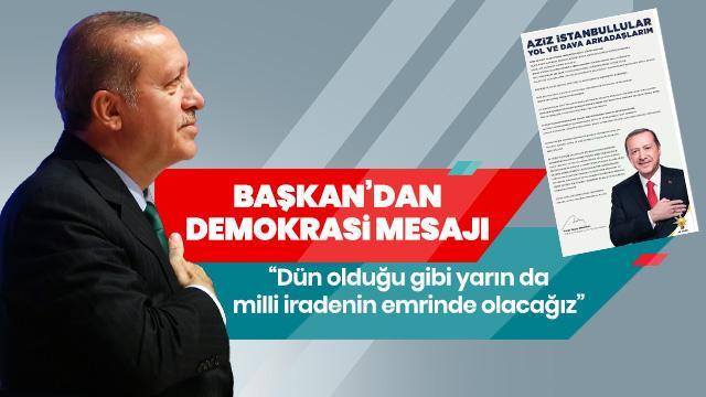 Başkan Erdoğan'dan gazetelere ilan: Aziz İstanbullular, yol ve dava arkadaşlarım...