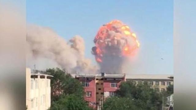 Kazakistan'da silah deposundaki patlamada 2 kişi öldü, 89 kişi yaralandı