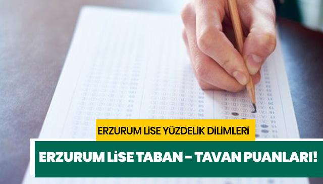 Erzurum lise yüzdelik dilimleri 2019 açıklandı mı? Erzurum lise taban puanları!