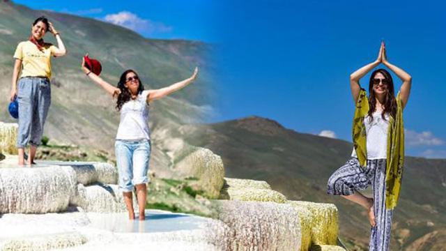 Van'ın Pamukkalesi ziyaretçi akınına uğruyor