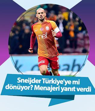 Sneijder'in Türkiye'ye döneceği iddialarına  menajeri yanıt verdi