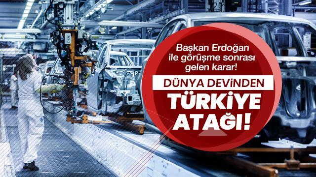 Dünya devinden Türkiye atağı!
