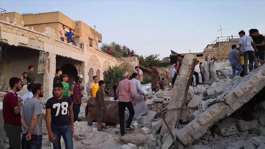 İdlib'e hava saldırıları: 4 ölü, 9 yaralı