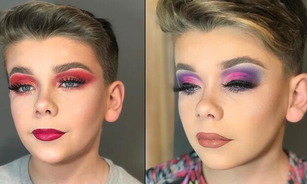 Makyaj yapan erkek çocuk videoları tartışma konusu oldu