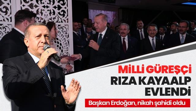 Milli güreşçi Rıza Kayaalp, Zeynep Yılmaz ile evlendi!
