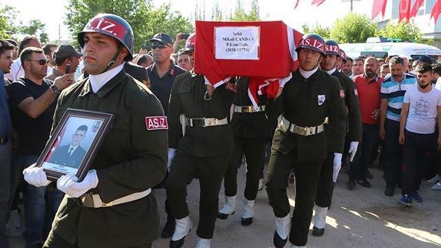 Şehidimiz Candan, Aksaray'da son yolculuğuna uğurlandı