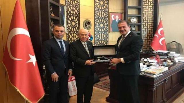 Metin Şahin'den Devlet Bahçeli'ye ziyaret