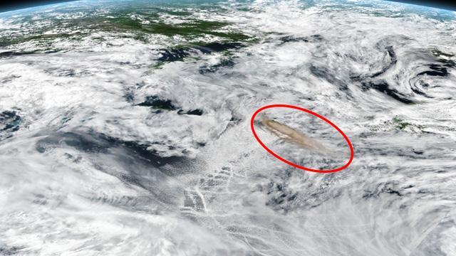 Rusya'daki volkan patlaması uzaydan fotoğraflandı