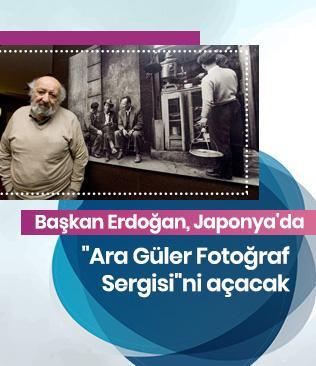 """Başkan Erdoğan, Japonya'da """"Ara Güler Fotoğraf Sergisi""""ni açacak"""