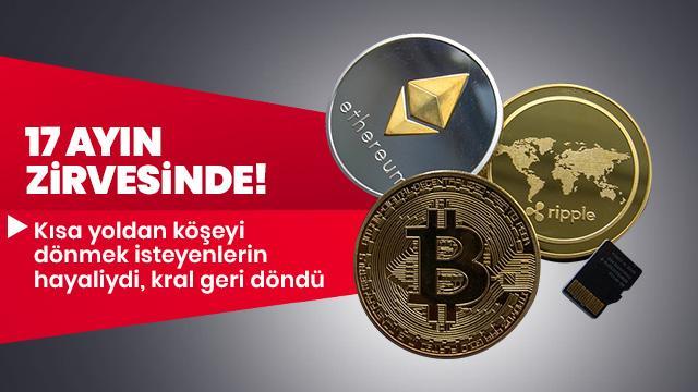 Bitcoin'de 17 ayın zirvesi