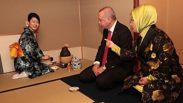 Başkan Erdoğan, Japonya'da çay seremonisine katıldı
