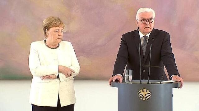 Alman Başbakan Merkel'i yine titreme tuttu! İşte o anlar