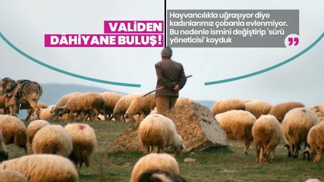 Vali Okay Memiş: Kadınlar çobanla evlenmiyor