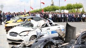 Terör örgütü FETÖ üyesi pilotların 15 Temmuz'da bombaladığı araçlar sergilendi