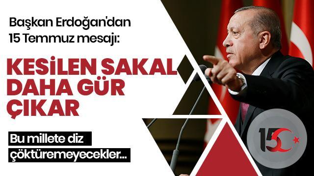 Başkan Erdoğan'dan önemli açıklamalar: Kolay kolay bir daha ayağa kalkamayacaklar