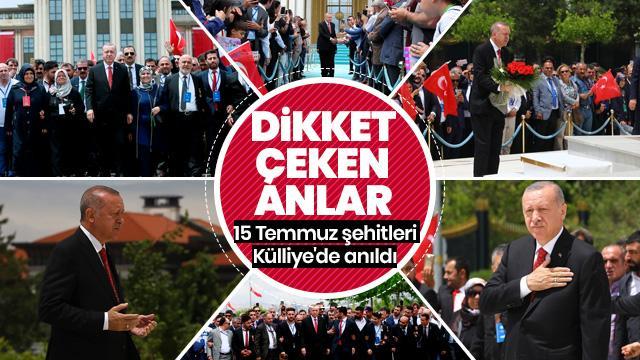Beştepe'de ilk tören... Başkan Erdoğan çelenk bırakıp, dua etti