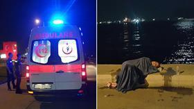 Zeytinburnu'nda intihar girişimi! Taksiden inip koşarak denize atladı