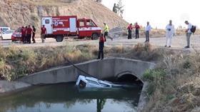Denizli'de otomobil sulama kanalına devrildi: 2 kişi hayatını kaybetti