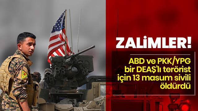 ABD ve PKK/YPG, 1 DEAŞ'lı terörist için 11 masum sivili öldürdü