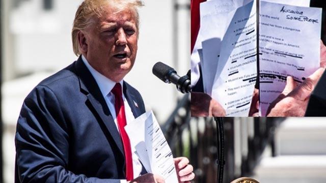Trump 'El Kaide' ve 'insanlar' yazmayı bilmiyor mu?