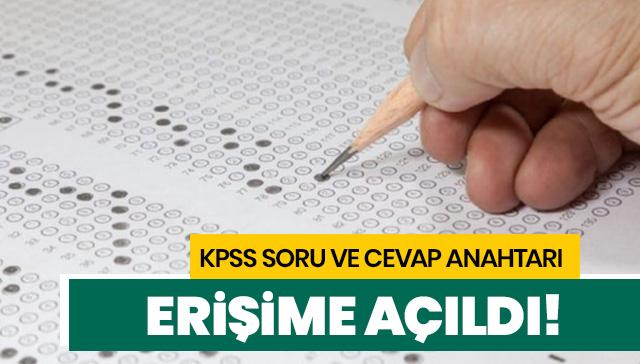 KPSS soru ve cevap anahtarı açıklandı! KPSS lisans soruları ve cevapları sizlerle!