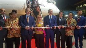 THY'nin 'Rüya uçağı' ilk yurt dışı uçuşunu Bali'ye yaptı