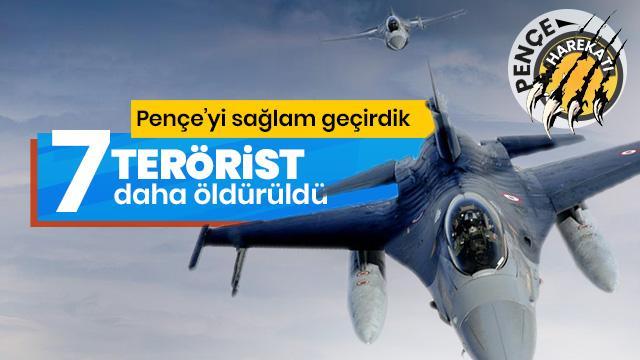 PKK'ya darbe üstüne darbe! 7 terörist etkisiz hale getirildi