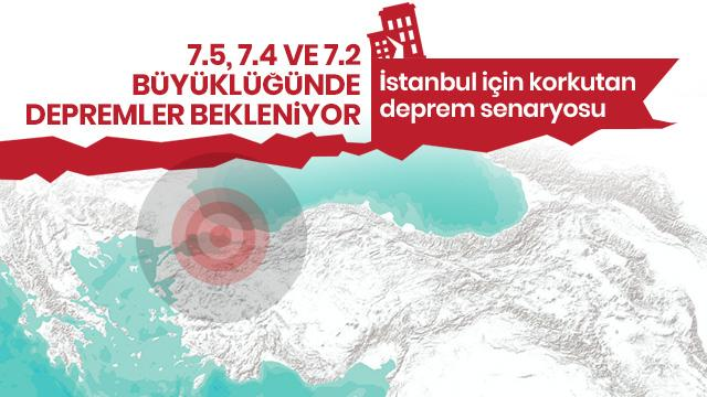İstanbul için korkutan deprem senaryosu: 7,5, 7,4 ve 7,2 büyüklüğünde ...
