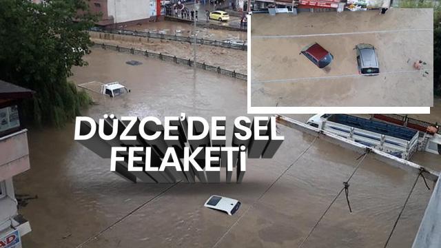 Düzce'de sel ve heyelan felaketi! Mahsur kalanları kurtarma çalışması sürüyor