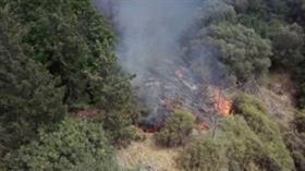 KKTC'de korkutan orman yangını: 6 dönümlük alan kül oldu