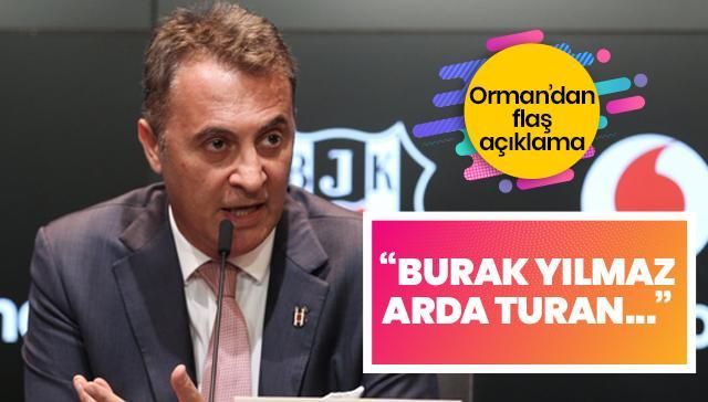 Fikret Orman'dan flaş açıklama: Burak Yılmaz futbolu Beşiktaş'ta bırakmak istiyor