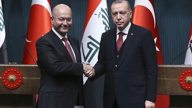 Irak Cumhurbaşkanı Salih'ten Baskan Erdoğan'a taziye telefonu