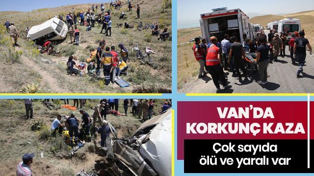 Göçmenleri taşıyan minibüs takla attı! Çok sayıda ölü ve yaralı var
