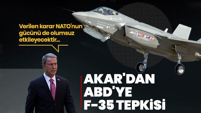 Son Dakika... Milli Savunma Bakanı Akar'dan F-35 açıklaması