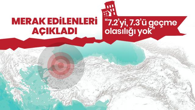 Prof. Dr. Ziyadin Çakır: İstanbul için çok büyük deprem düşünmüyorum