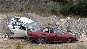 Tokat'ta cenazeye gidenlerin bulunduğu otomobilin kaza yapması sonucu 1 kişi öldü
