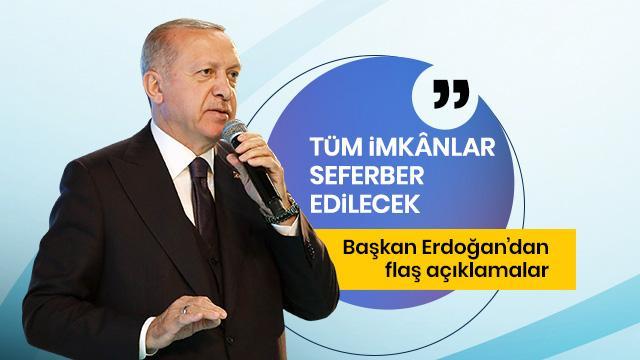 Başkan Erdoğan, Düzce'deki sel felaketiyle ilgili bilgi aldı