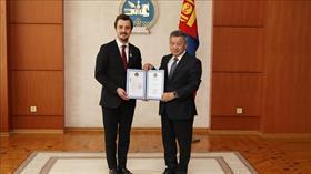 Moğolistan'dan Türk iş adamına Dostluk Nişanı