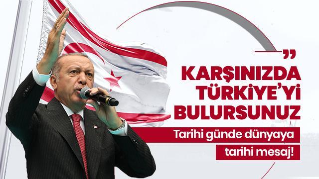 Son Dakika... Başkan Erdoğan'dan Doğu Akdeniz mesajı: Kararlılığımızı tüm dünya bugün de görmektedi