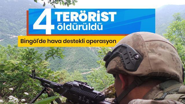 Bingöl'de 4 terörist etkisiz hale getirildi