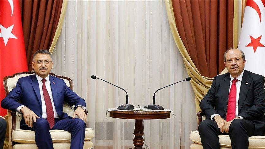 Cumhurbaşkanı Yardımcısı Oktay: Türkiye her alanda Kıbrıs Türk'ünün yanında