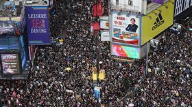 Hong Kong'da halk Çin'e iade yasasını protesto için tekrar sokaklara çıktı