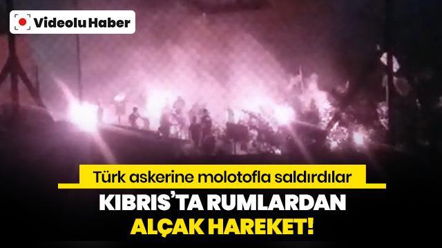 Kıbrıs'ta Rumlardan Türk askerine küstah saldırı!