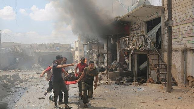 İdlib Gerginliği Azaltma Bölgesi'ne hava saldırılarında 17 sivil yaşamını yitirdi