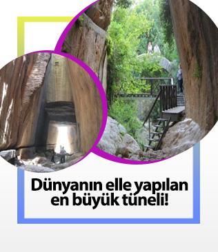 Dünyanın elle yapılan en büyük tüneli... Gören hayran kalıyor
